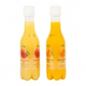 JusReal freshly squeezed juice soda - Sparkling freshly-squeezed fruit juice. Contains no preservatives, caffeine, added sugar or high-fructose corn syrup.<br><br>Selected for the sparkling character of the fruit juice composition.<br>