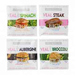 Veal & vegetables burger - Natural breaded veal and vegetable burger. GMO-free. For frying or oven-cooking. Pack of 2.<br><br>Selected for the breadth of the veal burger range (notably 2 recipes including vegetables). <br><br><br>