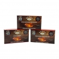 Burger kit - Kit for burger with selected meat. Contains 2 chopped 180g steaks, 2 burger buns and 100ml sauce.<br><br>Selected for the premium positioning of a meat product in kit form (wagyu, aged meat, black angus).<br>