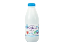 Lait UHT prospe via lacta - Fair-trade milk from cows fed without GMO. Guaranteed compensation of farmers. Respect for animal welfare.<br /> <br><br>Selected for the civic-minded and eco-responsible character of the product.<br>