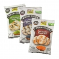 Brown whole grain rice chips - Brown rice and pulse crackers, rich in protein and fiber. Gluten-free. Vegan. Not fried. 100%-natural.<br><br>Selected for the offer of pulse snacks.<br>