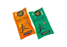 Energy balls - Natural dried fruits and seeds balls for energy. Raw ingredients. No sugar added. Gluten free. In a pouch to go.<br><br>Selected for the proposal of healthy and functional snacks made with chia, sunflower and squash seeds.<br>
