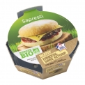Burger bio - Microwaveable individual organic hamburger. No palm oil. French beef. Ready in 1'45 minute.<br><br>Selected for the convenient offer of microwaveable individual organic hamburger.<br>