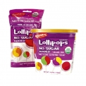 Sugar-free organic candies - Assorted organic lollipops with no added sugar. Enriched with tapioca fiber. Gluten free. Vegan.<br /> <br><br>Selected for the naturalness of the product (from organic farming) with no added sugar.<br>