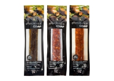Dry-uncure acorn-fed ibérico - Natural Iberian Bellota pork dried sausage. <br><br>Selected for the high-end meat product offer.<br>