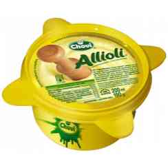 Freshl sauce to the taste Aioli realized according to the traditional recipe of Aioli with natural ingredients such as the fresh Garlic of Castile. Presented in a mortar of yellow pottery, its tasting will give you a fresh and, creamy taste and an intense flavor. Produce without gluten. Keep in 2-4° - Freshl sauce to the taste Aioli realized according to the traditional recipe of Aioli with natural ingredients such as the fresh Garlic of Castile. Presented in a mortar of yellow pottery, its tasting will give you a fresh and, creamy taste and an intense flavor. Produce without gluten. Keep in 2-4°