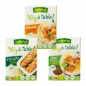 Vég à table ! - Range of vegetarian products without soy or gluten. No preservative.<br><br>Selected for the vegetable and pulse-based main meal preparation.<br>