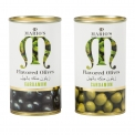 CARDAMOM OLIVES / Green & Black Olives with natural green cardamom. - Spanish whole olives with natural green cardamom, packed in peel-off tin. Olives are one of the world's healthier and most widely enjoyed foods, and after listening to the feedback from our international customers, we are excited to launch the first olive with cardamom. It tastes amazing and has a unique blend of flavors. Cardamom has also been proved to offer many health benefits and combined with olives it offers the perfect combination for those wanting something really tasty and healthy
