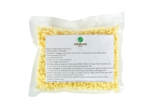 Egg protein pearls - Extruded egg protein pearls, rich in protein and low in sugars and fats, made from egg albumen.<br><br>Selected for its composition, as a novel alternative protein source.<br>