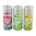 Wat water - Organic flavored sparkling water, sugar-free. Zero calories. In a colored can.<br><br>Selected for the mint-cucumber flavoring.<br>