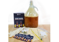 This beginner kit simplify the browing process by diluting a malt extract powder. All the material and ingredients needed are included.  At the end of the process, you get 4 liters of the best lager, since you made it your own - This beginner kit simplify the browing process by diluting a malt extract powder. All the material and ingredients needed are included.  At the end of the process, you get 4 liters of the best lager, since you made it your own