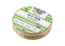 Le Cœur Fleuri - Vegan camembert-style cheese substitute. No milk, soy, gluten or palm oil.<br /> <br><br>Selected for the vegan alternative to camembert-style cheese.<br>Selected for the vegan alternative to camembert-style cheese.<br><br>