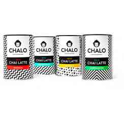 Chalo Chai Latte - We introduce the best Chai Latte in the world! Chai Latte is a funky drink with black tea, spices, milk and some sugar. It's instant and you can drink it hot or cold with ice cubes, great in summer! And it's VEGAN. We have 4 flavours: Original masala, lemongrass, vanilla and cardamon.
