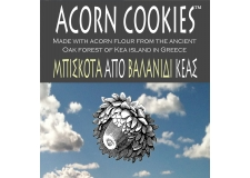 ACORN COOKIES - Giant Acorns of Kea are delicious, nutritious & gluten free. A new product helping farmers create new sustainable income from an ancient Oak forest. Award winning Acorn Cookies won Most Innovative Product & Package for Greece in 2015. Amazing Acorn Cookies are handmade on Kea and exported worldwide.