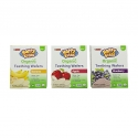 Organic Baby Rice Wafers - Organic gluten-free wafers for baby from 6 months. Peanut free. Dissolves easily. No artificial colors or flavors. No preservative. No GMO. 12 pouches of 2 wafers.