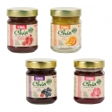 Chia pearl jelly - Natural fruit jelly with chia seeds. No refined sugar. Source of Omega 3, fiber and protein. Vegan. Gluten-free.<br><br>Selected for the chia-based recipe.<br>