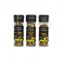 Les moulins à champignons - Mix of dried selected mushrooms in a mill. Handpicked mushrooms.