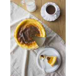 Creamy flan with fresh milk and eggs, made in Normandy. - Creamy flan with fresh milk and eggs, made in Normandy.