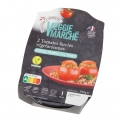 Tomates farcies - Vegetarian stuffed tomatoes in microwaveable tray. Source of fiber. Rich in protein. Ready in 3 minutes. For 1 person.<br /> <br><br>Selected for the plant-based alternative to French specialty (stuffed tomato). <br>