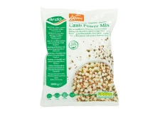 """Cauli Power Mix - This low-carb veggie mix is a blend of 4 x 4 mm cauliflower pieces (sometimes called """"cauliflower rice""""), red quinoa and green lentils, giving it an original colour palette.."""