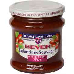 Confiture Extra Eglantines Sauvages - This jam is the symbol of our family business . Developed based pulp wild rose hip and sugar, it will delight each gourmet by its softness and smoothness. Since 1921, this jam reflects our expertise and our taste of authentic fruit.