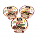 Les Bols Nomades - Organic and vegan grain and pulse meal in a bowl to go. Rich in protein and fiber. With wooden fork in the lid. Certified vegan. European and AB certification. Reheat in a double boiler for 5 minutes.<br><br>Selected for the range of healthy and natural recipes, quick to prepare.<br>