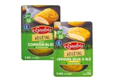 Végétal façon cordon bleu / croque fromage - GMO-free breaded meat substitute rich in protein. Low in saturated fat. Ready in a few minutes in the frying pan. Made in France.<br><br>Selected for the plant-based offer of cordon bleu-style product.<br>