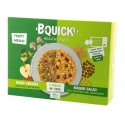 B-QUICK! - Frozen pulse, cereals and fruits salad duo for a complete meal. 2 microwaveable single pouches.<br /> <br><br>Selected for the original concept of 2-in-1 dish made with plants (vegetables, fruits, pulses), quick to prepare in the microwave oven.<br>