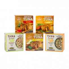 Smoked tuna - Tuna smoked using real wood. Gluten-free.<br><br>Selected for the smoky character of the tuna and the contribution this makes to the taste.<br>