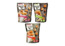 Chicken bites - Flavored breaded chicken bites to share. Made with hand-cut chicken breast. Ready in 6 to 8 minutes in the air fryer or 12-15 minutes in the traditional oven. Pack of 12.<br><br>Selected for the range of chicken finger-food for user-friendly consumption.<br>