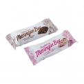Meringue bars - Low-calorie meringue bar coated in chocolate. Less than 100 calories.<br><br>Selected for the meringue-based snack recipe.<br>