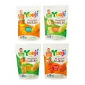 Ma purée de fruits bio - Frozen and portionable organic fruit puree for babies. With a gourmet touch. Gluten-free. No added sugar. Cooked in France. European and AB certification. 20g pieces in a stand-up pouch.<br><br>Selected for the offer of portionable organic fruit puree for babies.<br>