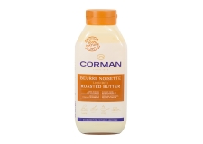 Corman Beurre Noisette liquide - Liquid beurre noisette in a resealable bottle. For toppings, sauces, cooking and desserts. 100%-natural.<br /> <br><br>Selected for the convenience of ready-to-use beurre noisette in large liquid format.<br>