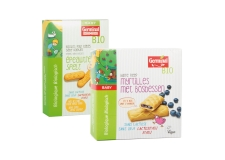 Barre reep myrtilles - Organic vegan baby biscuits. Lactose-free. Egg-free.<br><br>Selected for the vegan baby food offer.<br>