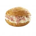 Les buns feuilletés - Sandwich with flaky bread bun. Bun with croissant puff pastry dough.<br><br>Selected for the sandwich recipe with flaky bread bun.<br>