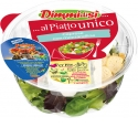 DimmidiSì - Prepared Salads - DimmidiSì prepared salads consist of enriched salads, ideal for creating complete lunches that are healthy, ready-to-eat and, above all, fresh. In order to maintain their freshness, the individual ingredients, are contained in separate compartments. For consumption on-the-go, salads come complete with a fork, a napkin and dressings. The range includes: Grana Padano Cheese & Olives; Tuna & Sweetcorn; Cherry Tomatoes & Olives; Provolone cheese & Cooked Ham; Chicken & Olives; Caprese (with mozzarella cheese).