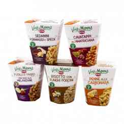 Viva la Mamma Box - Spelt flour pasta dish in microwaveable pot. No preservatives. Ready in 2 minutes.<br><br>Selected for the spelt ingredient in a healthy snacking product.<br>