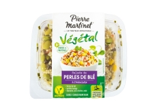 Perles de blé à l'échalote - 100%-vegetable mixed salad without preservatives. Source of protein. Made in France.<br><br>Selected for the use of wheat beads in individual salad.<br>