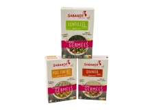 Les graines germées - Sprouted seeds, source of vitamins, proteins and GABA (aminobutyric acid). Quick to prepare. Anti-stress and relaxing properties. Eat hot or cold in a salad.<br><br>Selected for the offer of ready-to-cook sprouted seeds.<br>
