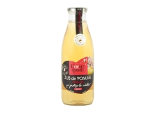 Jus de pommes qui protège les abeilles - Bee friendly - Fruit juice for the protection of bees. French fruits. Certified Bee Friendly. Promotes practices respectful of bees and pollinators, and safeguarding biodiversity. Hand-picked fruits.<br><br>Selected for the ecological promise: protection of bees. <br>