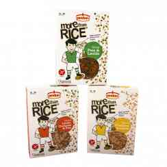 More than Rice - Rice grain-shaped pulses. High protein. Vegan. Gluten-free. Ready in 9 minutes.<br><br>Selected for the proposal of pulses shaped like grains of rice.<br>