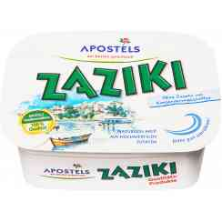 APOSTELS tzatziki. The No. 1 tzatziki in Germany. 2,500 cups are consumed in Germany every hour. - APOSTELS tzatziki. The No. 1 tzatziki in Germany. 2,500 cups are consumed in Germany every hour.