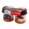 La Charlotte - Fruit charlotte in glass jar. Made with Alpine milk. Pack of 2.<br><br>Selected for the sophistication of the charlotte recipe and of the process.<br><br>