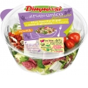"DimmidiSì - Prepared Salads ""Wellness line"" - DimmidiSì ""Wellness"" fresh salads are part of a range of enriched salads, ideal for a complete and healthy ready-to-eat meal. Thanks to the separate compartments salad and toppings freshness is preserved. Every salad comes with dressing, fork and napkin. DimmidiSì ""Wellness"" fresh salads are enriched with dried fruits and seeds with antioxidant and purifying properties."
