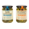 Cornichons gin & cornichons whisky - Gherkins with selected alcohol.<br><br>Selected for the originality of the taste offered by the alcohol ingredient.<br>