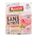 Jambon conservation sans nitrite Monique Ranou - Ham with nitrite-free preservation. French pork. Made in France.<br><br>Selected for the offer of nitrite-free deli.<br>