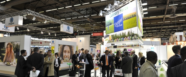 Visitors and exhibitors meeting