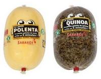 Polenta and slaced  Quinoa