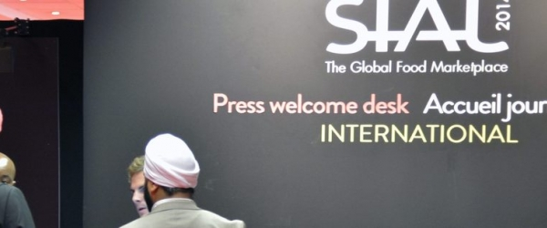 Press welcome desk at SIAL Paris