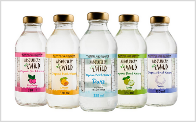 One of SIAL Innovation's many selections, Absolutely wild offers  an organic birch water rich in antioxidants, minerals and micronutrients.